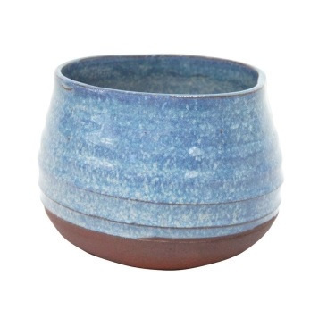 Inis Ceramic Planter - Blue Mottle - 11.5cmh