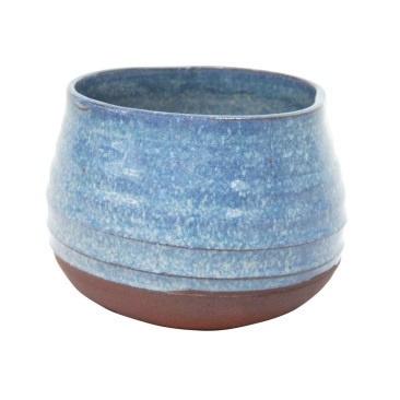Inis Ceramic Planter - Blue Mottle - 11.5cmh