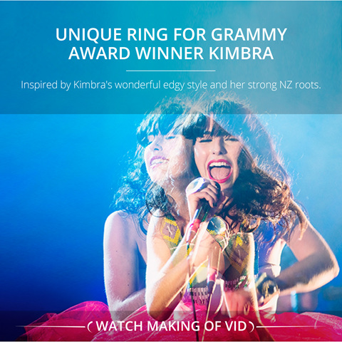 Inspired designed modern ring for Kimbra Grammy award winning musician