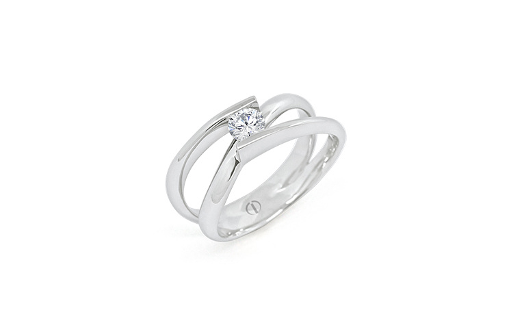 Inspired Infinity Delicate Diamond Ring