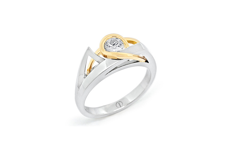 Inspired Naked Barcelona Diamond Ring