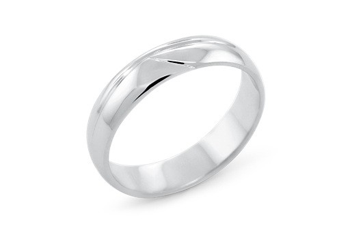Inspired Waved Delicate Mens Wedding Ring