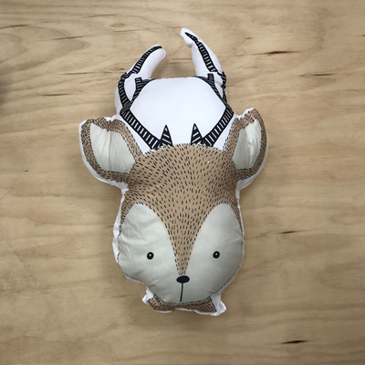 Into The Woods Deer Cushion
