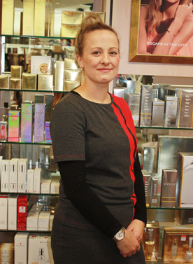 Introducing Kylie on the Elizabeth Arden counter