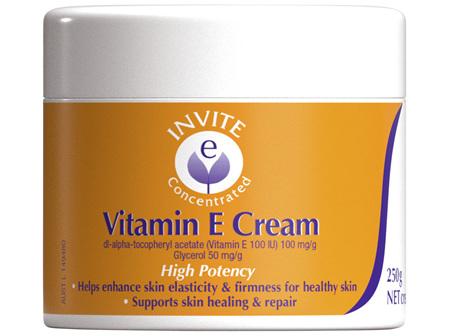 Invite E Concentrated Vitamin E Cream 250g Jar