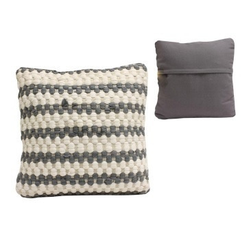 Ira Floor Cushion Large - Grey & White