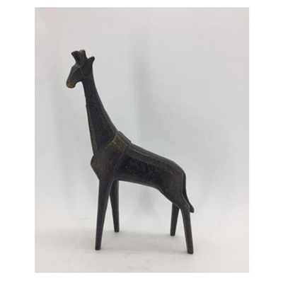 Iron-Like Poly Giraffe - Large Ornament