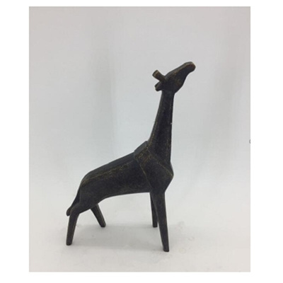 Iron-Like Poly Giraffe - Small Ornament
