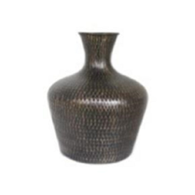 Isabis Metal Vase - Black/Large