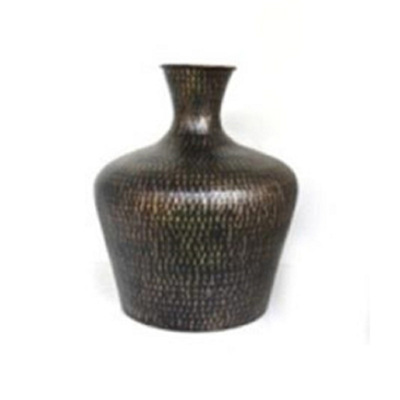 Isabis Metal Vase - Black - Small