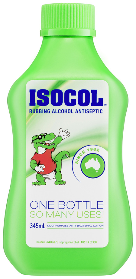 Isocol Rubbing Alcohol Antiseptic 345mL