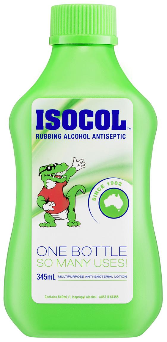 Isocol Rubbing Alcohol Antiseptic 345mL