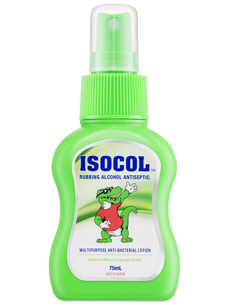 Isocol Rubbing Alcohol Antiseptic 75mL