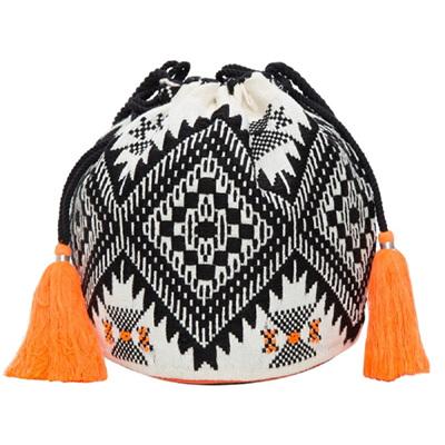 Jacquard Beaded Duffel Bag
