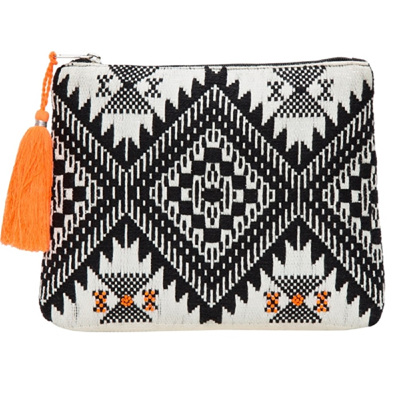 Jacquard Beaded Pouch Bag