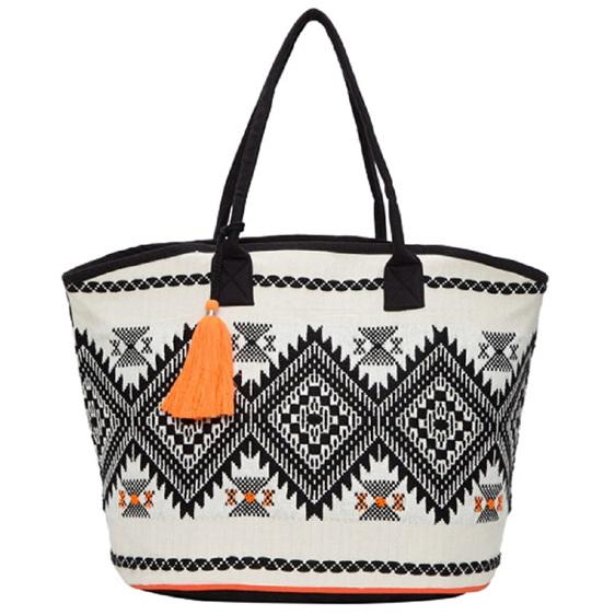 Jacquard Shopper Bag