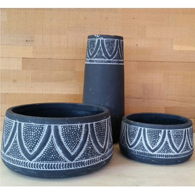 Jedda Vase - Black H12x25cm