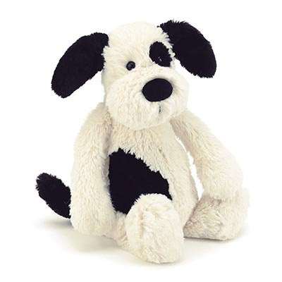 Jellycat Bashful Black & Cream Puppy L