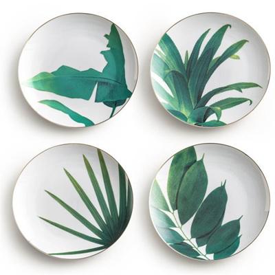 Jet Setter Botanical Side Plates
