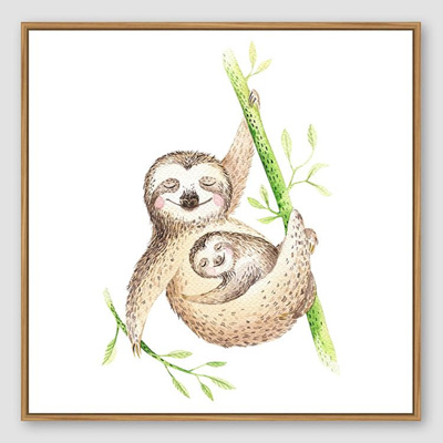 Jnr. - Mum and Bub Sloth - 30x30