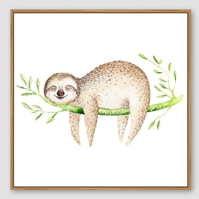 Jnr. - Afternoon Nap Sloth - 30x30