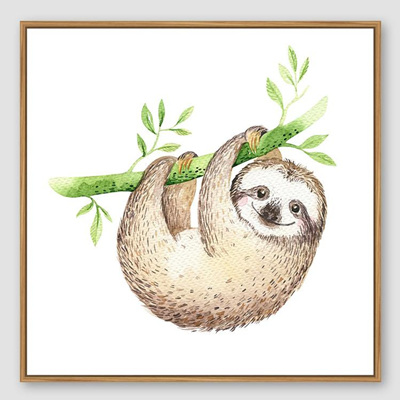 Jnr. - Sloth Hanging Around - 30x30