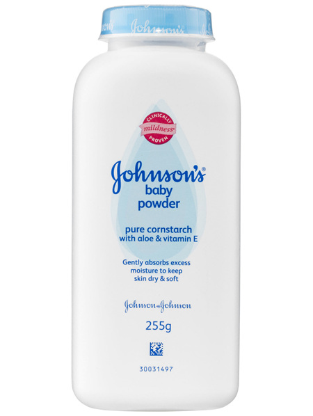 Johnson's Baby Powder Pure Cornstarch With Aloe & Vitamin E 255g