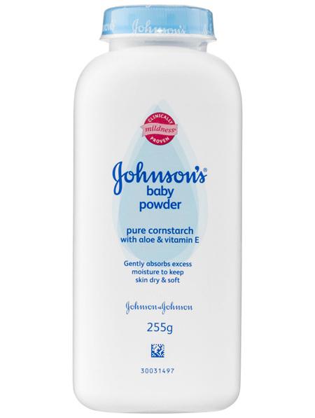 Johnson's Baby Powder Pure Cornstarch With Aloe & Vitamin E 255g