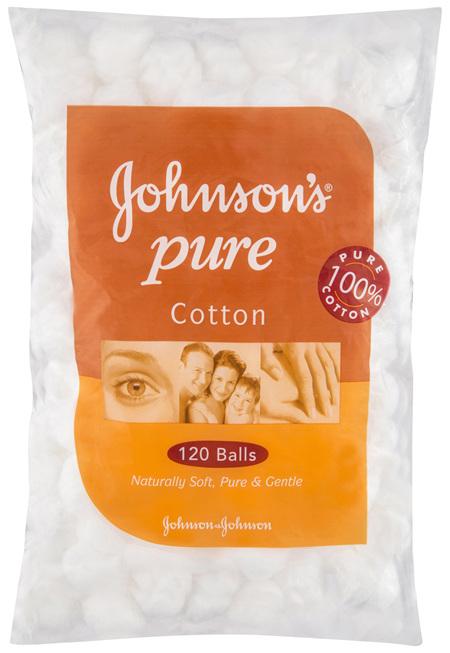 Johnson's Pure Cotton Balls 120