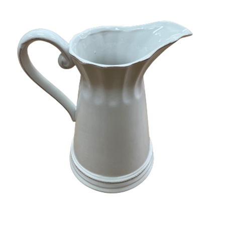 Jug Rustic Tall White
