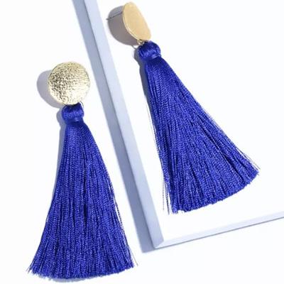 Jump N Jive Tassel Earrings - Peacock