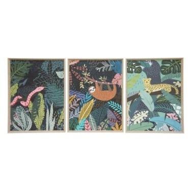 Jungle Cheetah Print w/ Natural Slope Frame 57x77cmh