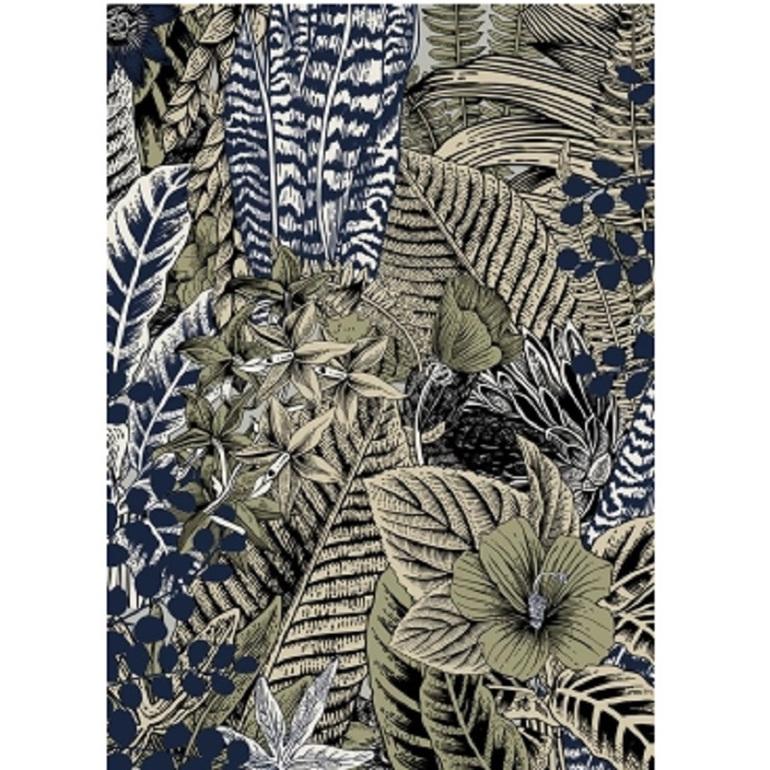 Jungle Print - Black Slope Frame