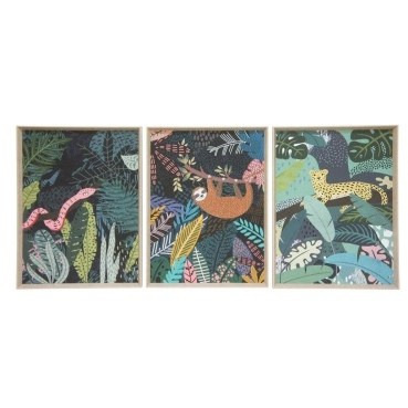 Jungle Sloth Print w/ Natural Slope Frame 57x77cmh
