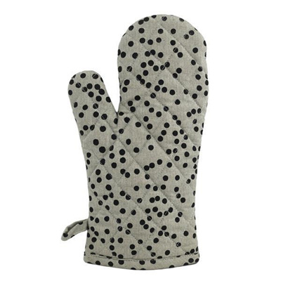 Jungle Spots Oven Mitt - Grey