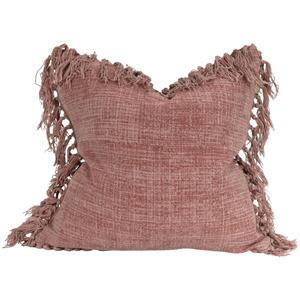 Jute Tassel Cushion - Mushroom Pink