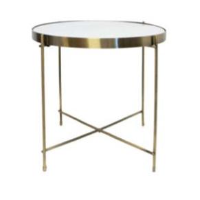 Kairi Metal Folding Table W Marble Top 43x43cmd