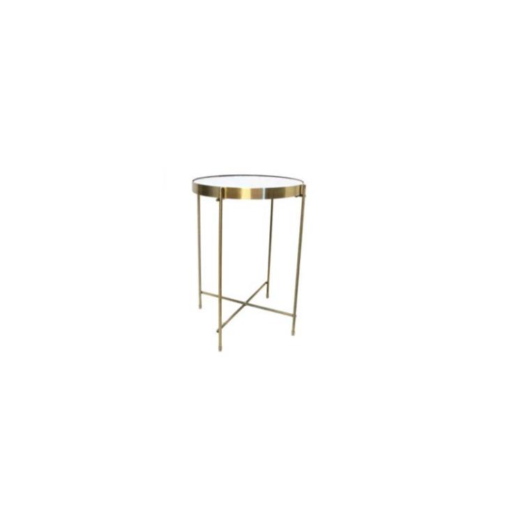 Kairi Metal Folding Table W Marble Top