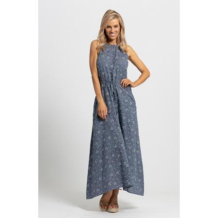 KAJA KYLIE DRESS BLUE FLORAL ASTD