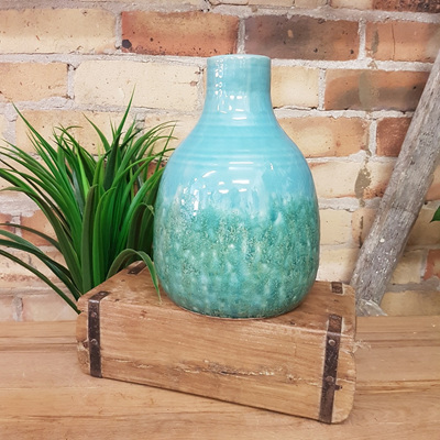 Kamena Ceramic Vase - Textured Teal