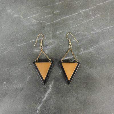 Kellie Earrings - Black & Copper