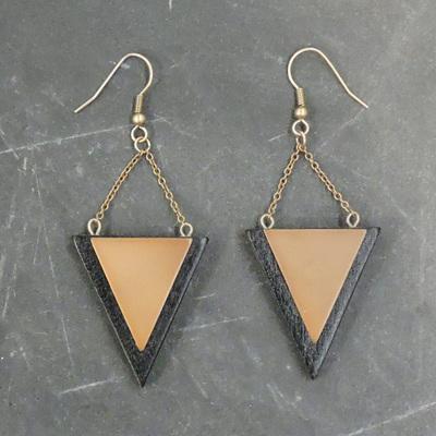 Kellie Earrings - Natural & Marble