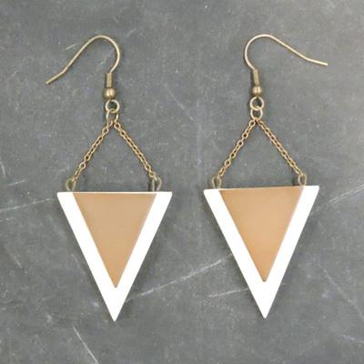 Kellie Earrings - White & Copper