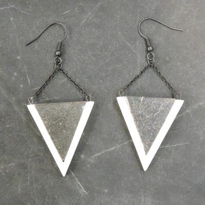 Kellie Earrings - White & Marble