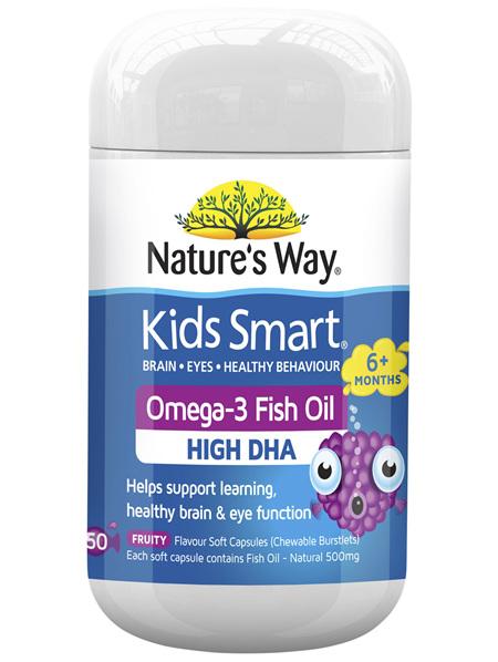 KIDS SMART BURSTLETS OMEGA-3 FISH OIL FRUITY 50s