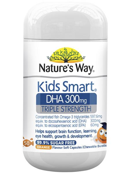 KIDS SMART DHA TRIPLE STRENGTH BURSTLETS 300MG 50S - OMEGA 3 FOR KIDS