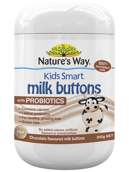 KIDS SMART MILK BUTTONS PROBIOTIC CHOCOLATE 150s