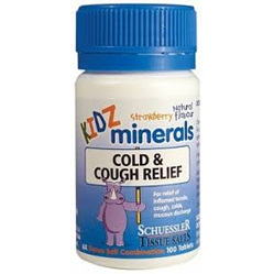 KIDZ MINERALS Cold & Cough 100tabs