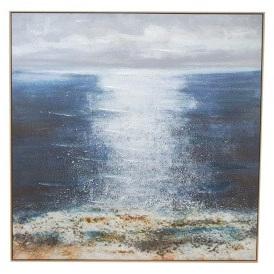 Kirra Canvas Print W Gel - Natural Frame 120x120cm