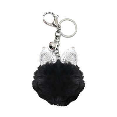 Kitty Keyring - Black